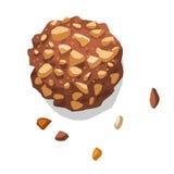Illustrazione isolata cioccolato del biscotto Fotografie Stock Libere da Diritti