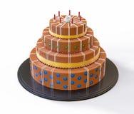 illustrazione isolata 3d del dolce di cioccolato Fotografie Stock