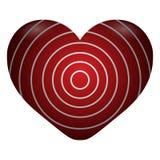 Illustrazione isolata del cuore Fotografia Stock