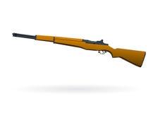 Illustrazione isolata del fucile Immagini Stock