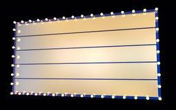 Illustrazione isolata dell'insegna del teatro 3D Immagine Stock