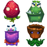 Illustrazione isolata: Forest Monsters Set 1 Fotografie Stock