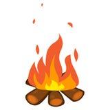 Illustrazione isolata fuoco di accampamento Immagini Stock Libere da Diritti