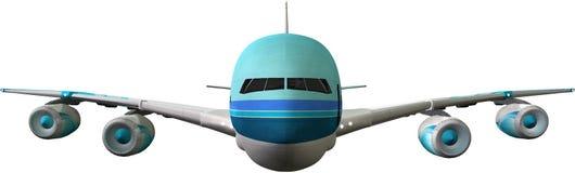 Illustrazione isolata Jet Airplane enorme illustrazione di stock