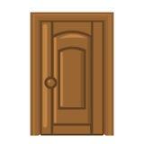 Illustrazione isolata porta di legno Fotografia Stock Libera da Diritti