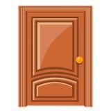 Illustrazione isolata porta di legno Fotografia Stock