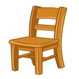 Illustrazione isolata sedia di legno Fotografie Stock Libere da Diritti