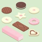 Illustrazione isometrica dei biscotti differenti Fotografia Stock Libera da Diritti