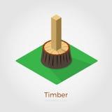Illustrazione isometrica del legname Illustrazione Vettoriale