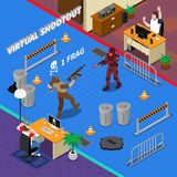 Illustrazione isometrica di sport cyber Fotografie Stock Libere da Diritti