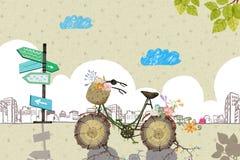 Illustrazione: La vostra bicicletta sta aspettandovi Fotografia Stock