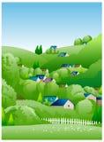 Illustrazione laterale del paese illustrazione vettoriale