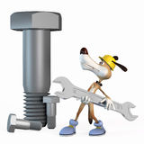 Illustrazione, lavoratore del cane. Immagini Stock