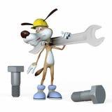 Illustrazione, lavoratore del cane. Fotografia Stock