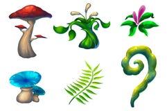 Illustrazione: Le belle e piante sconosciute Immagini Stock Libere da Diritti