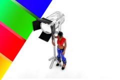 illustrazione leggera dello studio delle donne 3d Fotografia Stock