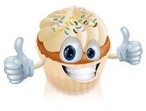 Illustrazione leggiadramente del carattere della torta Immagini Stock