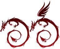 Illustrazione leggiadramente del drago royalty illustrazione gratis