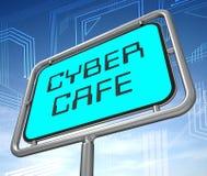 Illustrazione libera di punto caldo 3d di Internet del caffè cyber illustrazione di stock