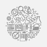Illustrazione lineare di biotecnologia illustrazione vettoriale