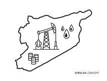 Illustrazione lineare di vettore dell'olio della Siria illustrazione vettoriale