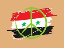Illustrazione lineare di vettore di pace della Siria Fotografie Stock