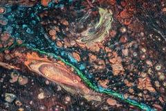 Illustrazione liquida astratta fluida di arte Pittura acrilica sul canva illustrazione di stock