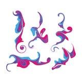 Illustrazione liquida variopinta di vettore delle collezioni di progettazione stabilita della spruzzata dell'inchiostro illustrazione di stock