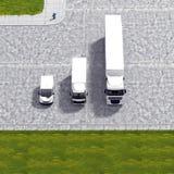 Illustrazione logistica di servizio del trasporto di affari Fotografie Stock Libere da Diritti