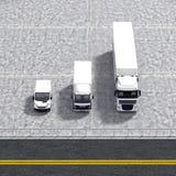 Illustrazione logistica di servizio del trasporto di affari Immagini Stock Libere da Diritti