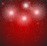 Illustrazione lucida di vettore del fondo dei fuochi d'artificio Fotografia Stock