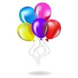 Illustrazione lucida di vettore del fondo dei palloni di colore - Illustrat Royalty Illustrazione gratis