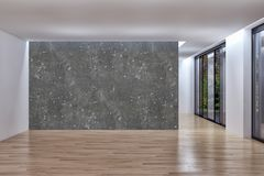 Illustrazione luminosa moderna della rappresentazione dell'appartamento 3D degli interni Immagini Stock