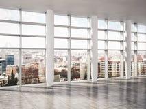 Illustrazione luminosa moderna della rappresentazione dell'appartamento 3D degli interni Immagine Stock