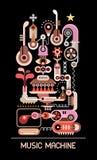 Illustrazione a macchina di vettore di musica Fotografia Stock