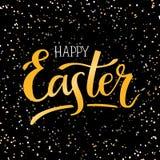 Illustrazione a mano-letering Pasqua felice di vettore Fotografia Stock