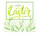 Illustrazione a mano-letering Pasqua felice di vettore Fotografia Stock Libera da Diritti