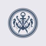 Illustrazione marittima di vettore di simbolo immagine stock libera da diritti
