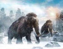 Illustrazione mastodontica di scena 3D Fotografia Stock