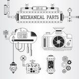 Illustrazione meccanica di vettore delle parti di Steampunk Fotografia Stock Libera da Diritti