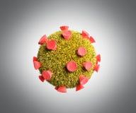 Illustrazione medica dettagliata 3d dei batteri o del virusesm illustrazione di stock