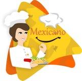 Illustrazione messicana di vettore di logo del ristorante dell'alimento illustrazione di stock
