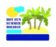 Illustrazione minimalista di vettore per la vacanza estiva Fotografia Stock Libera da Diritti