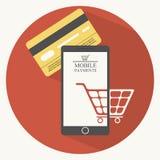 Illustrazione mobile di pagamenti nello stile piano royalty illustrazione gratis