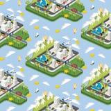 Illustrazione moderna della città illustrazione di stock