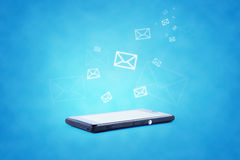 Illustrazione moderna di tecnologia della comunicazione con Fotografia Stock