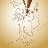 Illustrazione Moses Immagini Stock Libere da Diritti