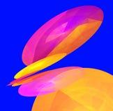 Illustrazione multicolore degli ambiti di provenienza astratti Fotografia Stock Libera da Diritti