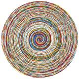 Illustrazione multicolore e chiazzata astratta eleme variopinto di progettazione Immagini Stock