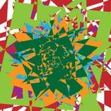 Illustrazione multicolore e chiazzata astratta eleme variopinto di progettazione Fotografia Stock Libera da Diritti